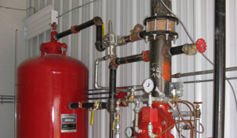 Fire fighting foam injection system